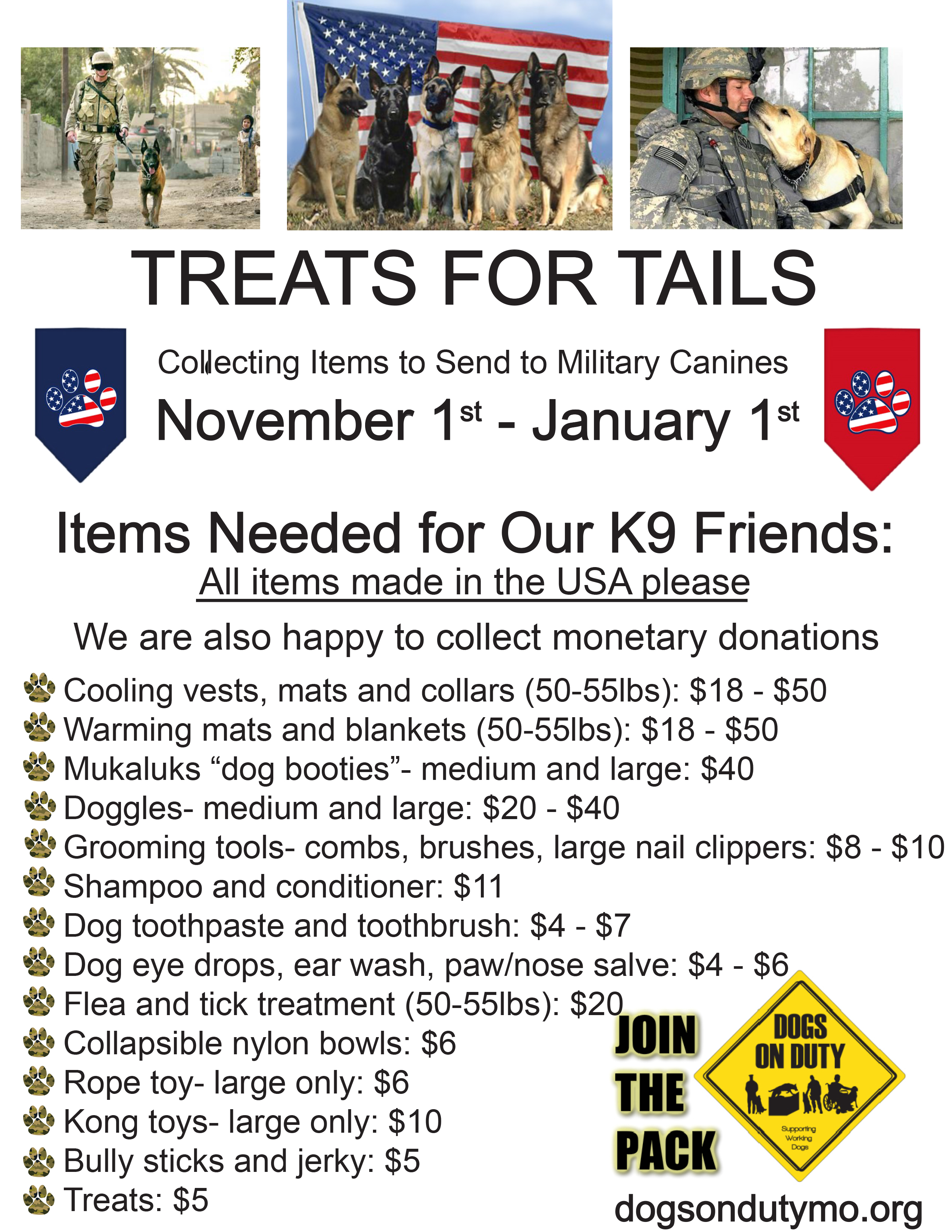 Treats for Tails Collection Poster